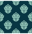Seamless pattern with baroque floral tracery vector image vector image