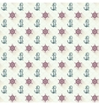 seamless patterns anchors with shadow vector image