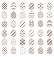 set flat egg simplae icon vector image