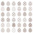 set flat egg simplae icon vector image