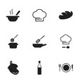 set of 9 editable restaurant icons includes vector image