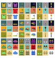 set of icons in flat design golf equipments vector image vector image