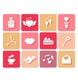 Set of wedding and Valentines icons for cards vector image vector image