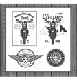 set vintage motorcycle labels vector image