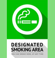 smoking area poster vector image vector image