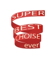 Super best choise icon cartoon style vector image vector image