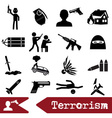 terrorism theme set of simple icon eps10 vector image vector image