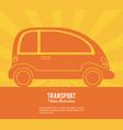 transport car future vehicle design vector image vector image