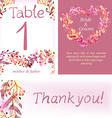 Watercolor floral card set colorful natural vector image vector image