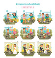 wheelchair person lifestyle vector image vector image