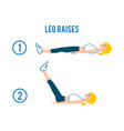 woman doing exercise abdominal workout flat vector image