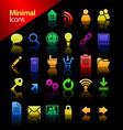 media minimal icon set vector image