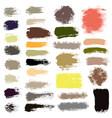 brush strokes set 16 vector image