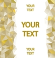 Yellow polygons background vector image