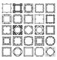 art deco frames vector image