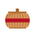 asia vase icon flat style vector image vector image
