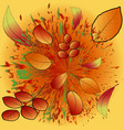 autumn background with leaves back to school vector image