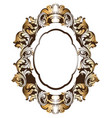baroque golden mirror frame french luxury vector image vector image