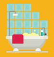 bath flat vector image vector image