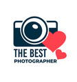 best photographer photo studio logotype or award vector image