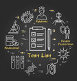 black concept test list analysis vector image vector image
