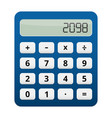 blue plastic calculator white buttons vector image vector image