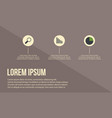 busines infographic with brown background vector image
