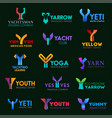 business corporate identity of letter y vector image