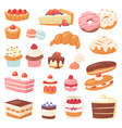 cake chocolate confectionery cupcake and vector image
