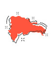 cartoon dominican republic map icon in comic vector image vector image