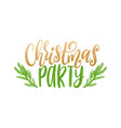 christmas party lettering happy holidays vector image vector image