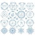 christmasnew year decor setwinter circle frames vector image