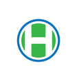circle h business finance logo image vector image