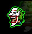 clown head or madman vector image