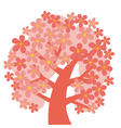 concept decorative pink tree blossom vector image