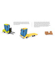 construction machinery banners for logistics vector image
