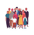 crowd smiling diverse people standing together vector image vector image