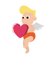 cupid with heart vector image