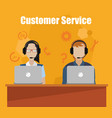 customer service call center vector image