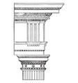 doric order themoe of diocletian vintage engraving vector image vector image