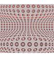 Dots ornate background Geometric halftone vector image