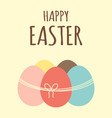 easter card with eggs and ribbon vector image