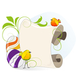Easter eggs and bright little birds vector image vector image