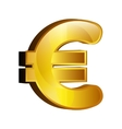 Euro money gold icon vector image