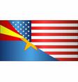 flag of usa and arizona state vector image vector image
