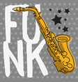funk music lettering type poster design with a vector image vector image