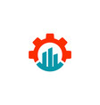 gear chart logo design industrial icon element vector image