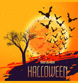 halloween celebration background with flying bats vector image vector image