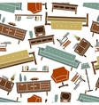 Home furniture retro seamless pattern vector image vector image