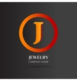 J Letter logo abstract design vector image vector image